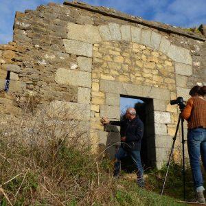 Tournage des Brèves de nature n°8 sur les Fortifications et fours à chaux de la presqu'île de Crozon