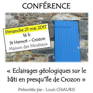 Conférence «Eclairages géologiques sur le bâti en Presqu'île de Crozon», par Louis CHAURIS