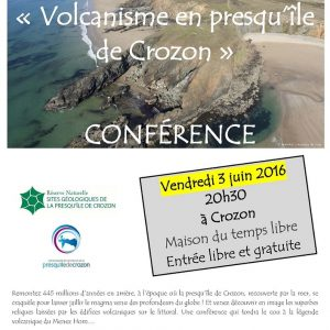 Conférence sur le Volcanisme en presqu'île de Crozon