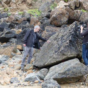 Tournage des Brèves de nature n°2 sur «le Volcanisme en presqu'île de Crozon»