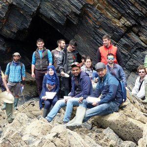 Voyage d'étude des étudiants géologues de Sardaigne